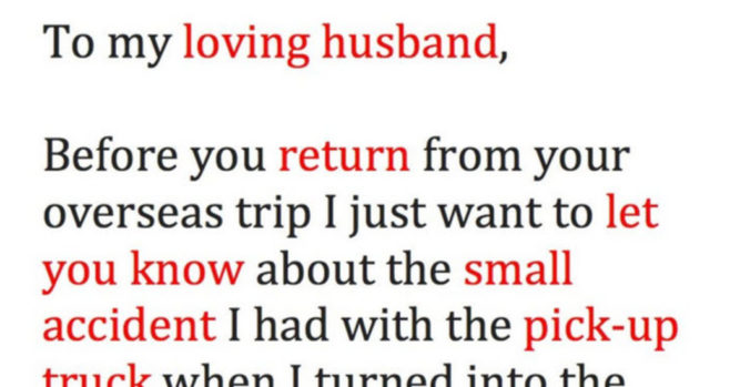 Woman Sends Her Cheating Husband A Letter And A Picture – Inner
