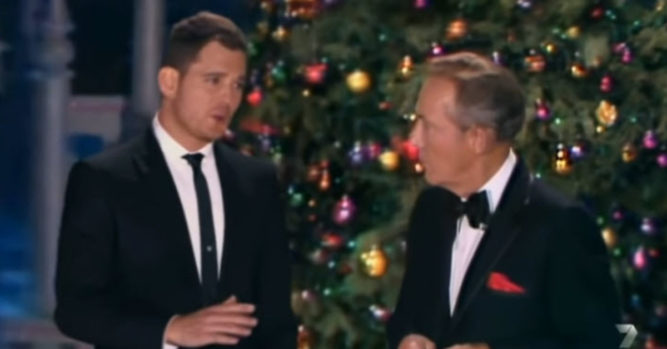 Michael Bublé Sings 'White Christmas' With Bing Crosby