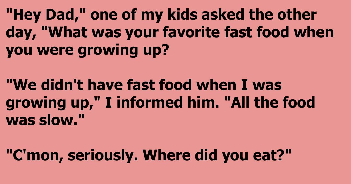 Dad Shows His Son The Reality Of Fast Food In Years Gone By